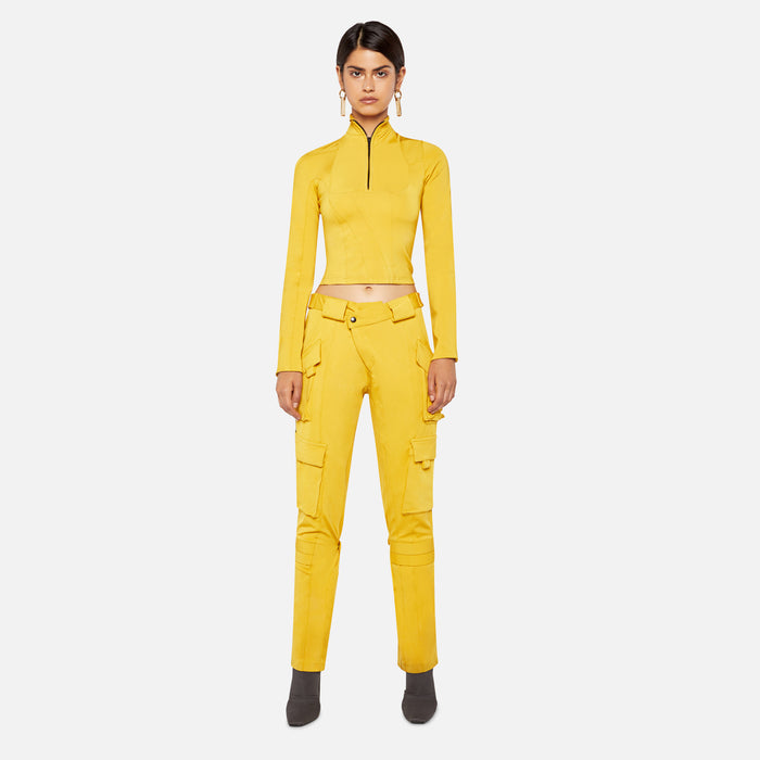 Ottolinger Ski Zip Top - Yellow