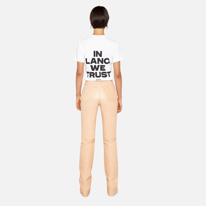 Helmut Lang Little Tee With Print - White