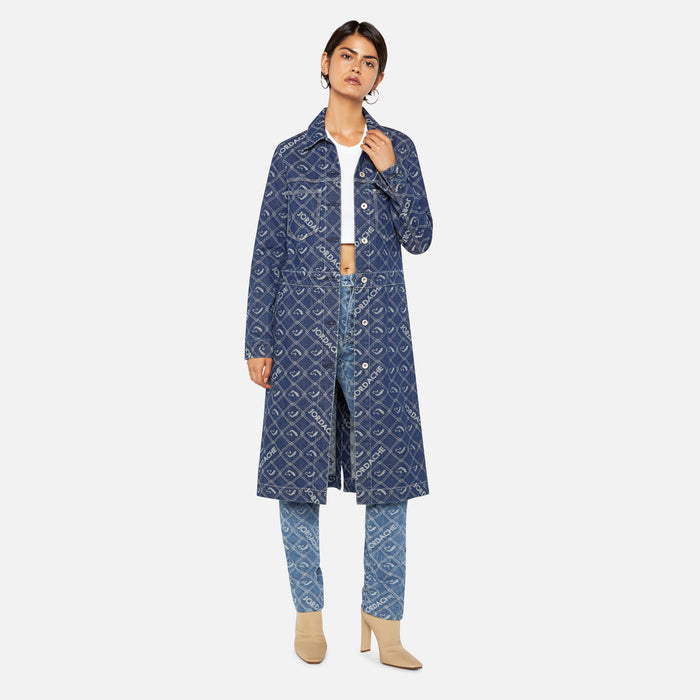 Jordache Duster Jacket - Medium Stone