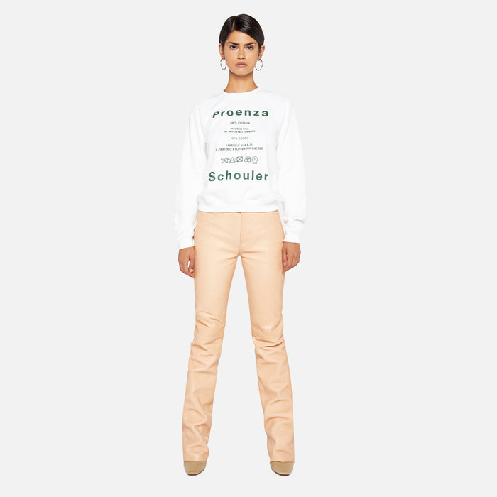 Proenza Schouler Shrunken Sweatshirt - Care Label