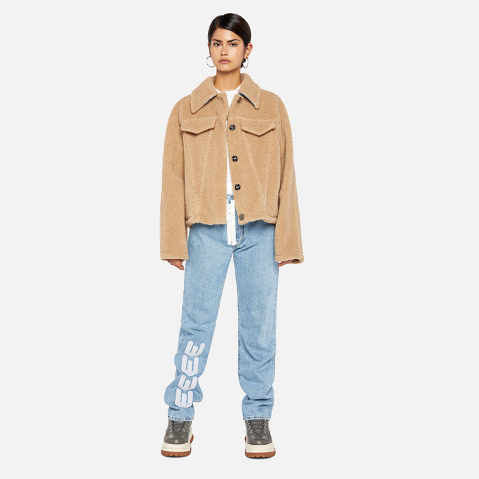 Off-White Bear Track Jacket - Camel / White
