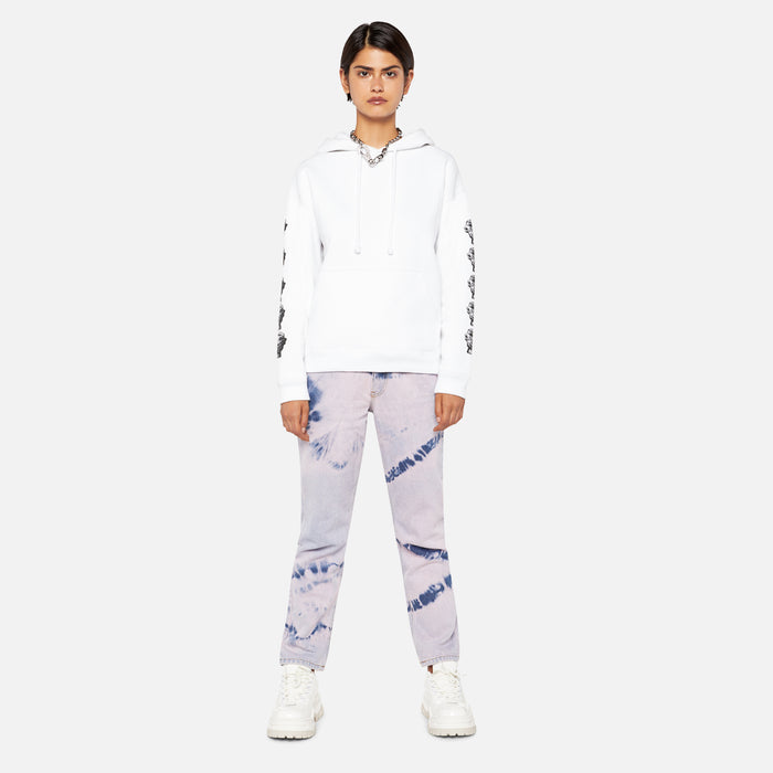 Ashley Williams Stone Head Pocket Hoodie - White