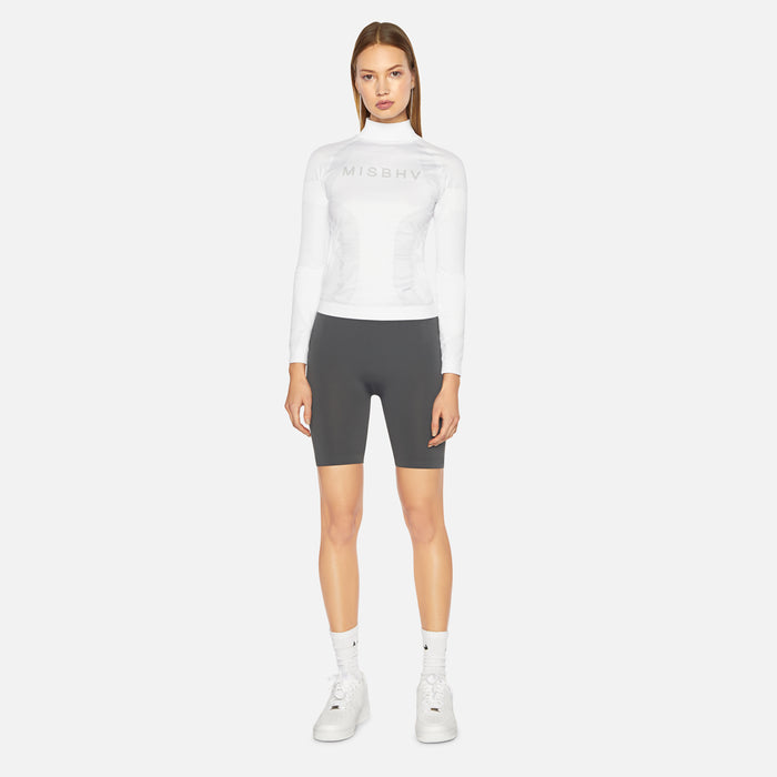 MISBHV Active Top Light Gray  - White