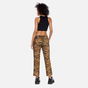 Ashley Williams Faux Fur Tiger Executive Trousers - Brown