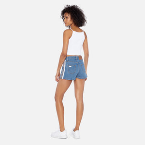 GCDS Denim Band Shorts - Light Blue