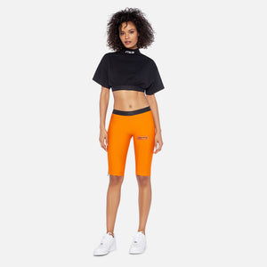 Heron Preston  Elastic Biker Shorts - Orange / Black