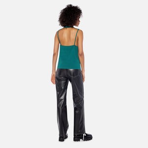 Telfar Rib Slim Mock Neck Halter - Green