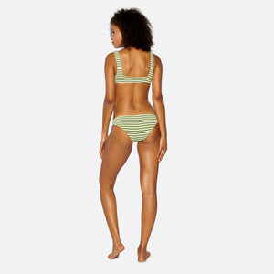 Solid & Striped Stripe Rib Elle Bottom - Olive Cream