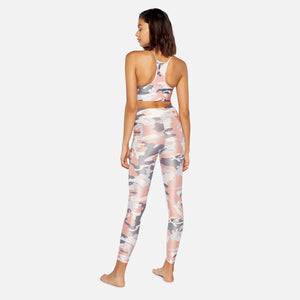 Koral Lustrous High Rise Legging - Rose Quartz Camo