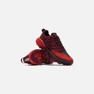 Hoka Speedgoat 4 - Cordovan / High Risk Red