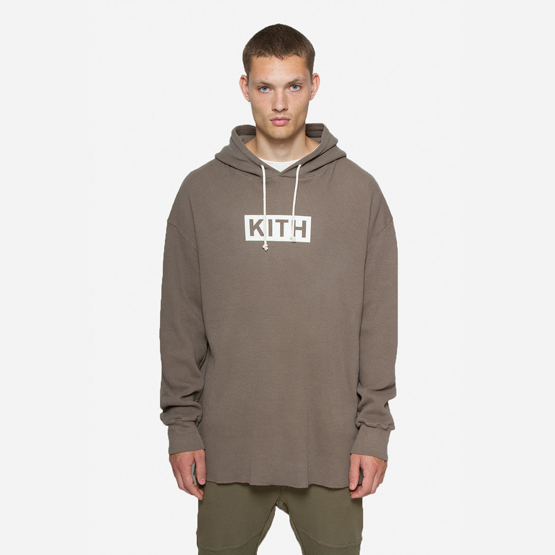 Kith Classics x Calux Waffle Hoodie - Cinder