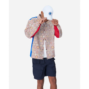 Kith Printed Coaches Jacket - Brown / Multi Image 2
