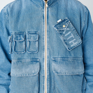 Kith Denim Aviation Bomber Jacket - Hosu 2.0 Wash