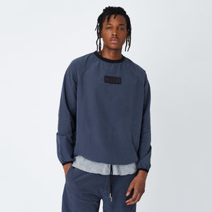 Kith L/S Nylon Ripstop Johnson Crewneck - Ebony