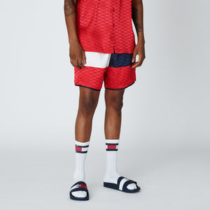 Kith x Tommy Hilfiger Satin Boxing Short - Red