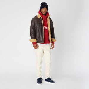 Kith Amherst Shearling Trucker Jacket - Dark Brown