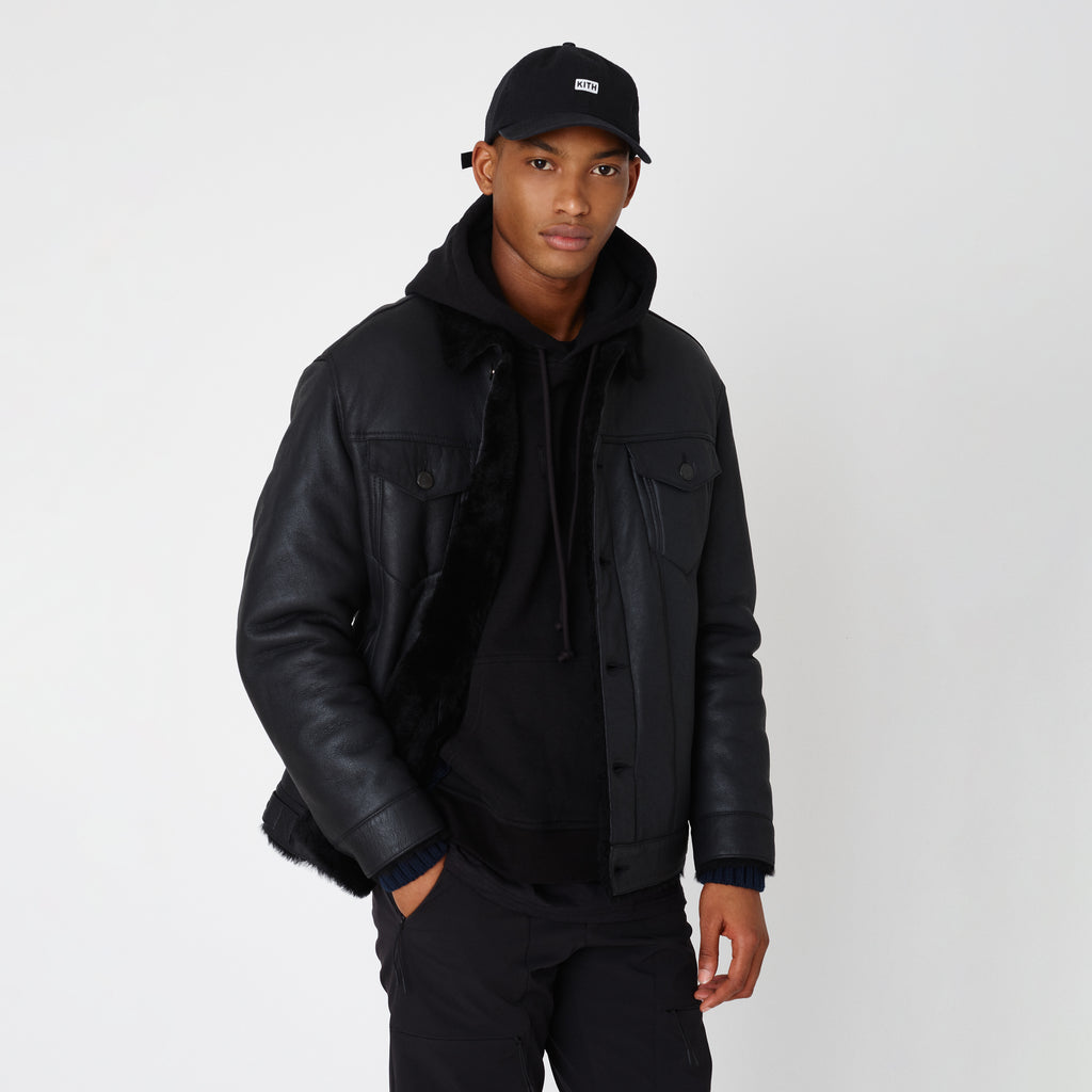 Kith Amherst Shearling Trucker Jacket - Black-look