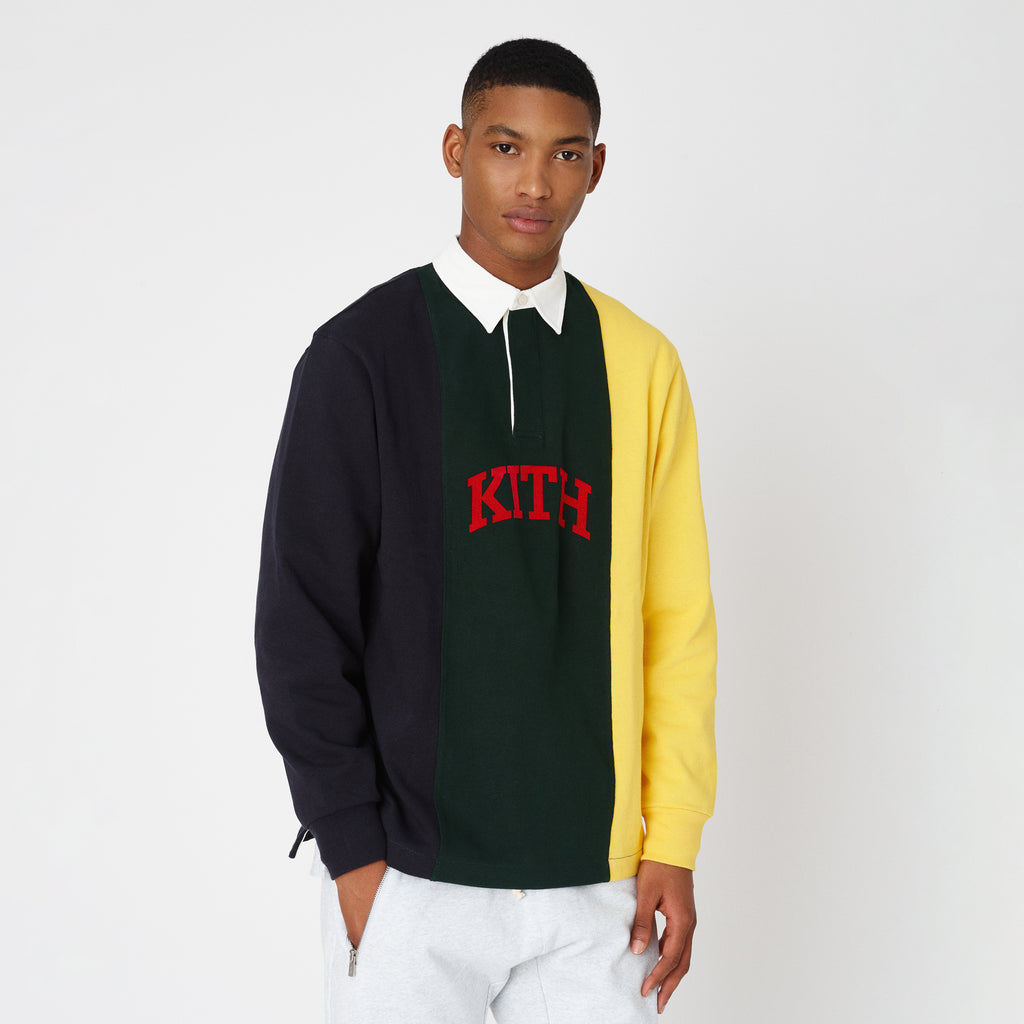 Kith Colorblock Jersey Rugby - Forest Green-look