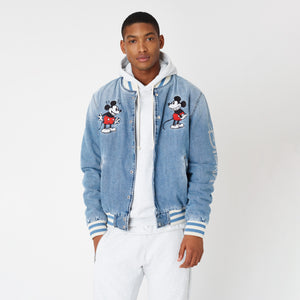 Kith x Disney Denim Varsity Jacket - Indigo