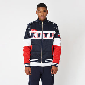 Kith x Disney Twill Racing Jacket - Red