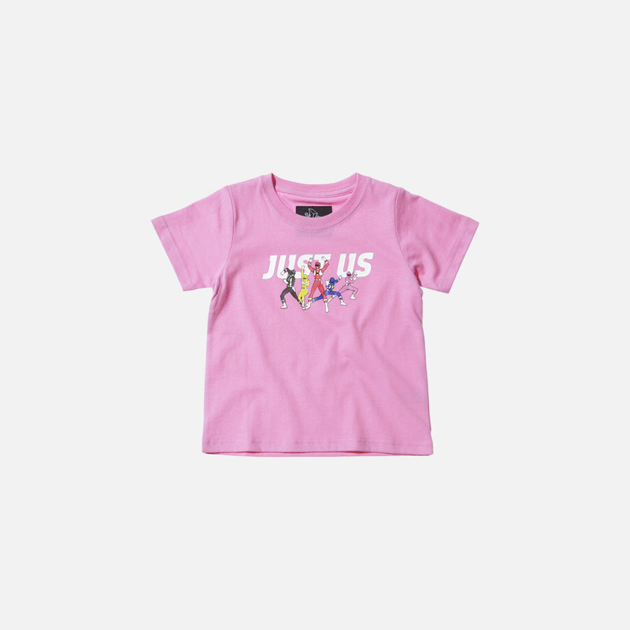 Kidset x Power Rangers Just Us Tee - Pink