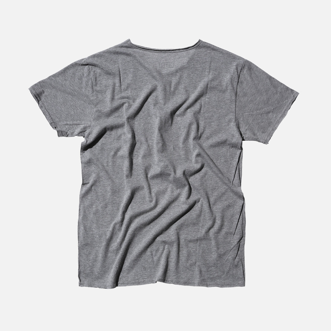 Kith Snake Frayed Tee - Heather Grey / Orange