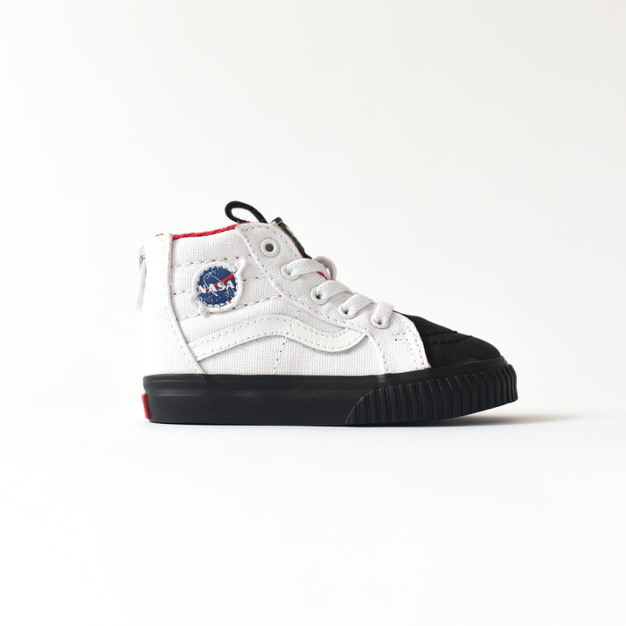 Vans x NASA Toddler Sk8-Hi Zip MTE Space Voyager - True White / Black
