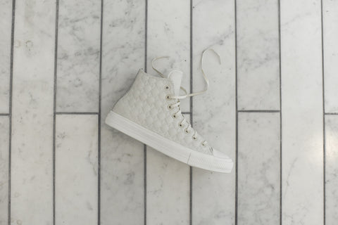 Converse Chuck II Hi QS Car Leather - Egret