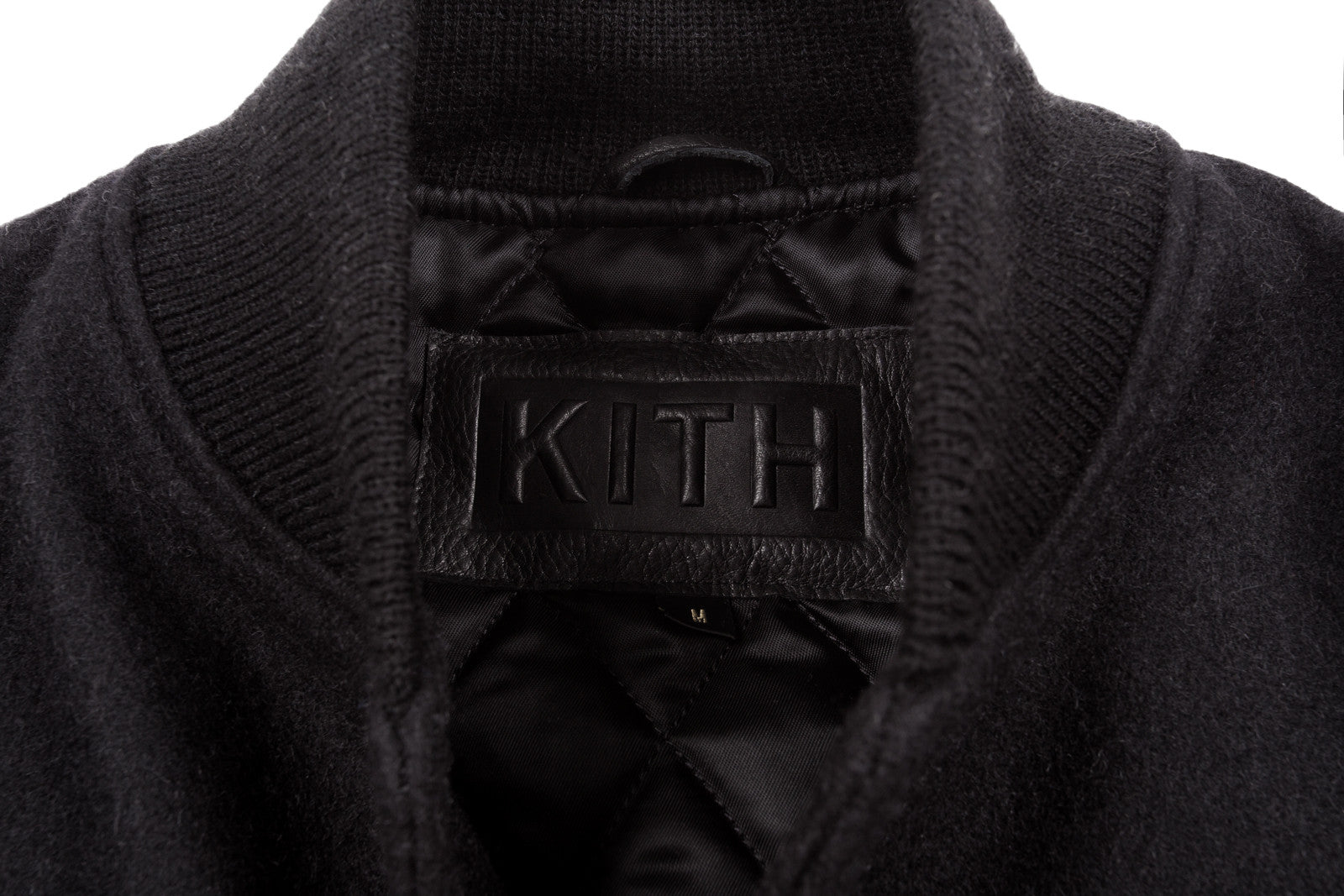 KITH Classics x Golden Bear Long Varsity Jacket - Triple Black
