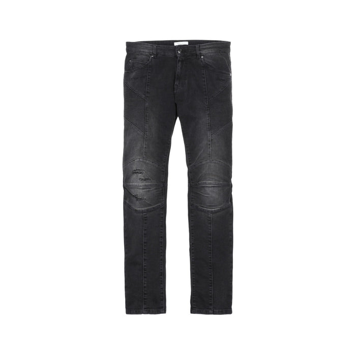 Pierre Balmain Moto Jeans - Washed Black