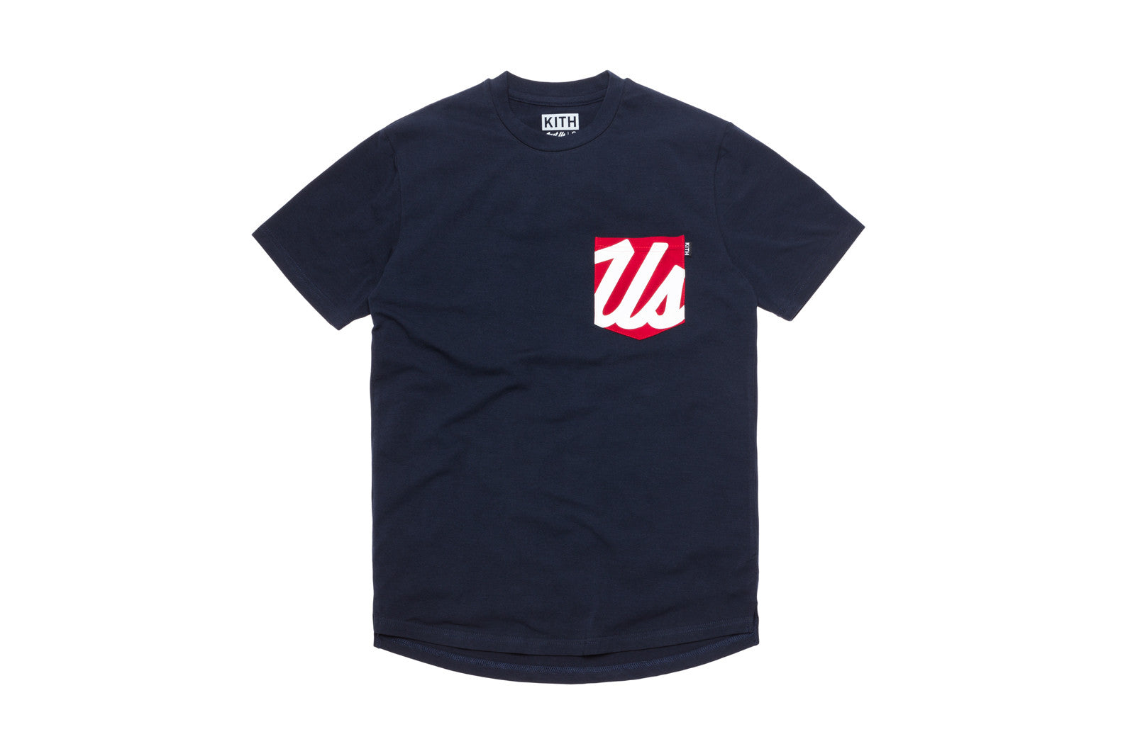 KITH Us Pocket Tee - Navy / Red / White