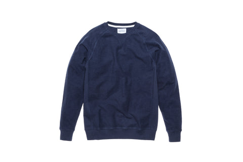 Norse Projects Tristan Reverse Brushed Crewneck - Navy