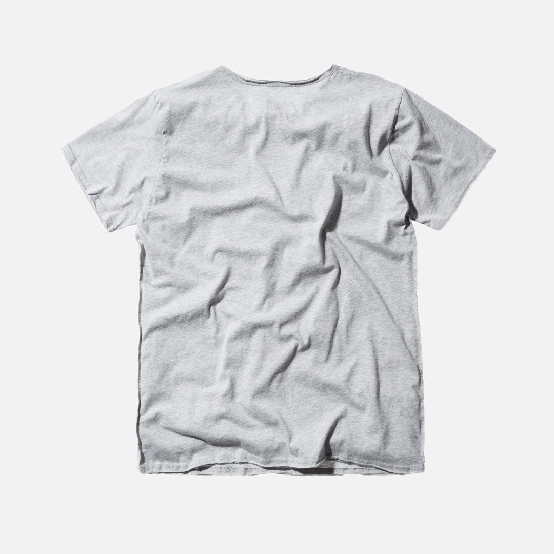 Kith Classics Frayed Bank Tee - Heather Grey