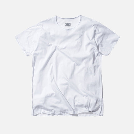 KITH Classics Frayed Bank Tee - White
