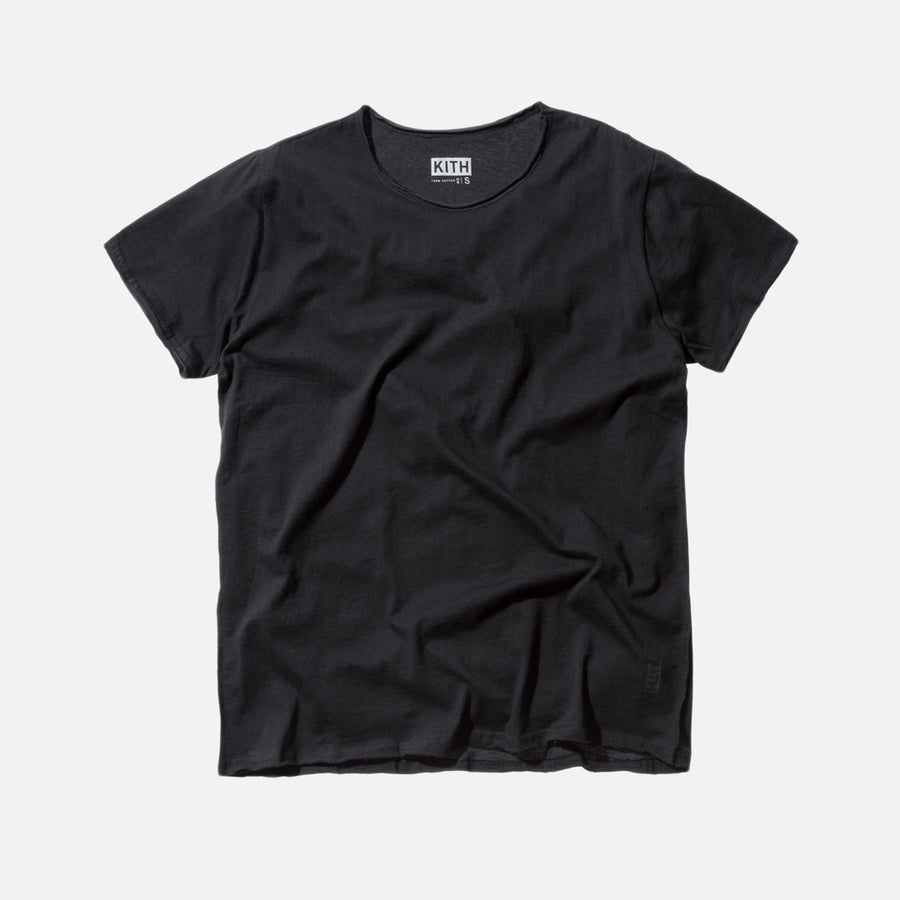 KITH Classics Frayed Bank Tee - Black