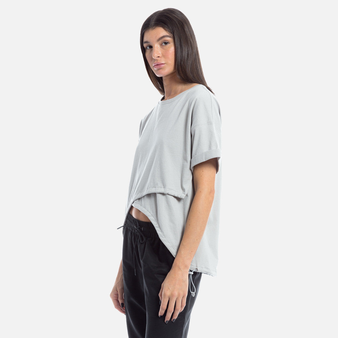 Kith Tate Crop Top - Microchip Grey