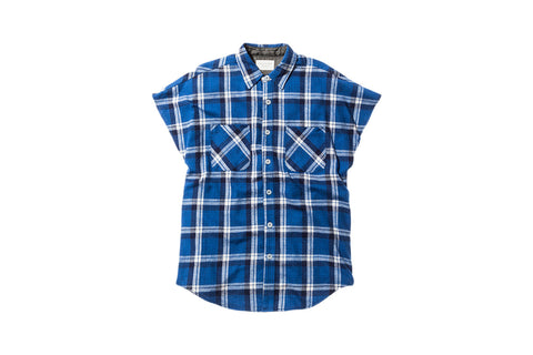Fear of God Sleeveless Flannel Shirt - Blue