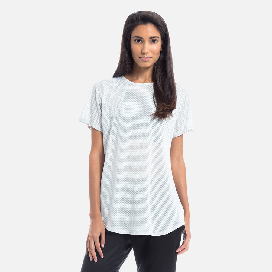Kith Monique Mesh Tee - Microchip Grey