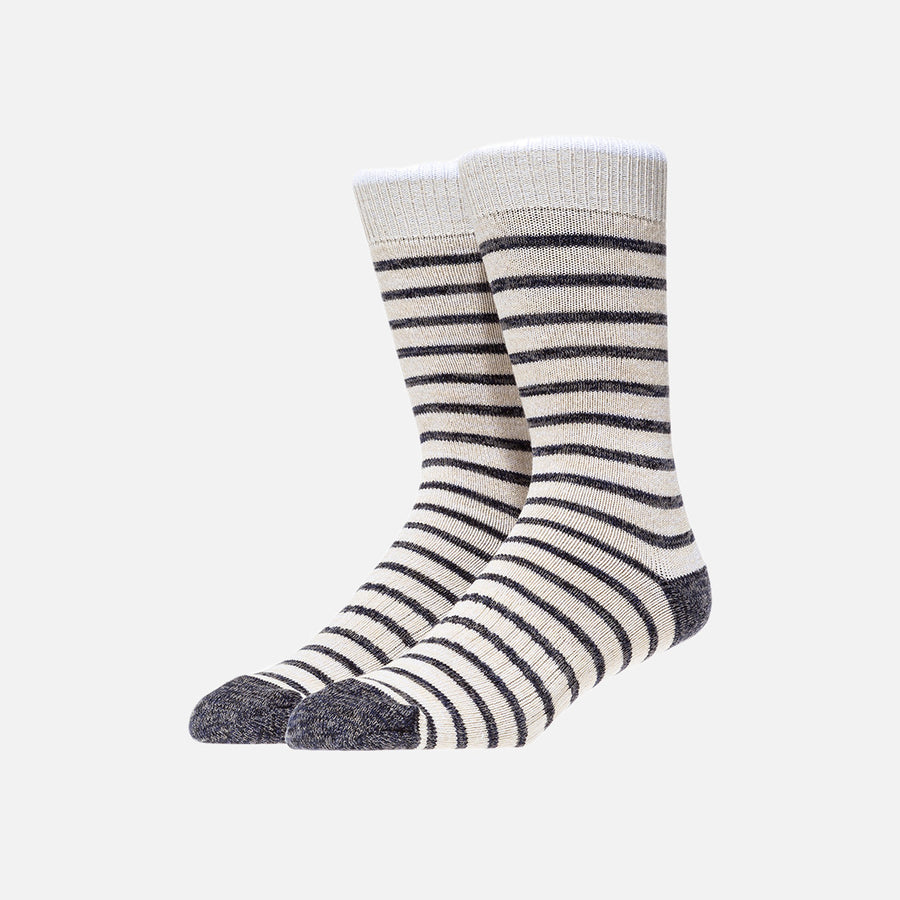 Norse Projects Bjarki Normandy Stripe Sock - Ecru
