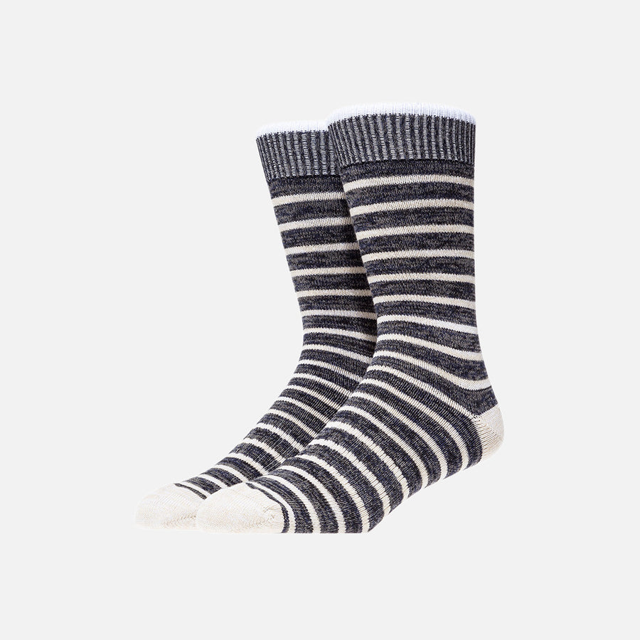 Norse Projects Bjarki Normandy Stripe Sock - Blue
