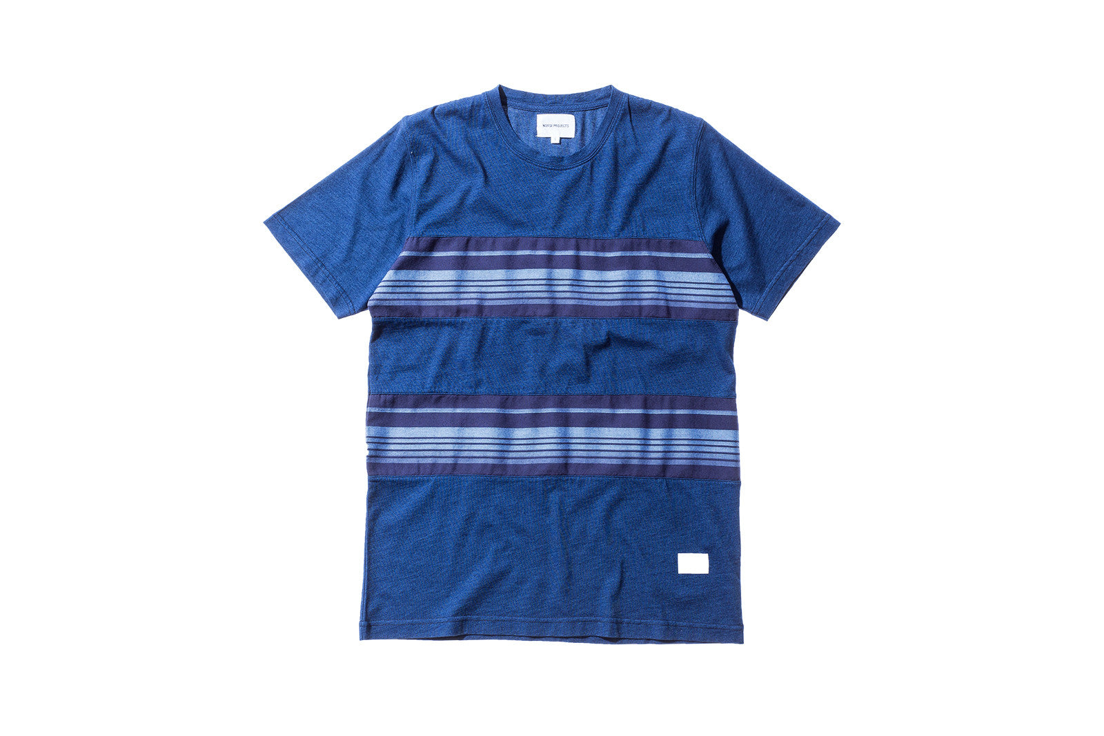 Norse Projects James Contrast Stripe Tee - Indigo