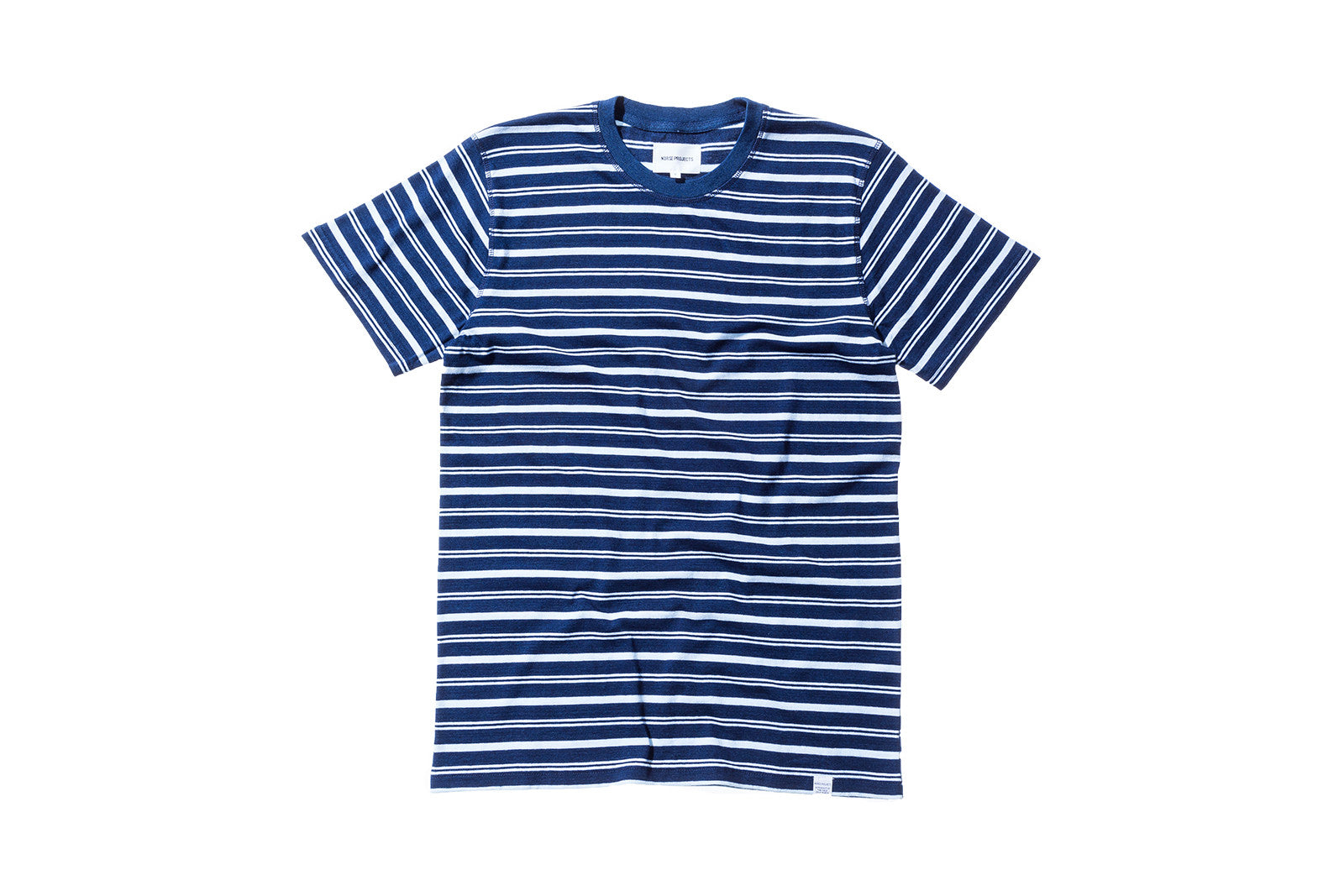 Norse Projects Niels Dark Stripe Tee - Indigo