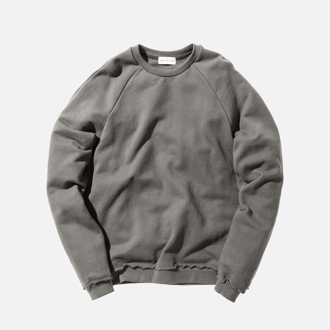 John Elliott Raw Edge Raglan Crew - Alpine