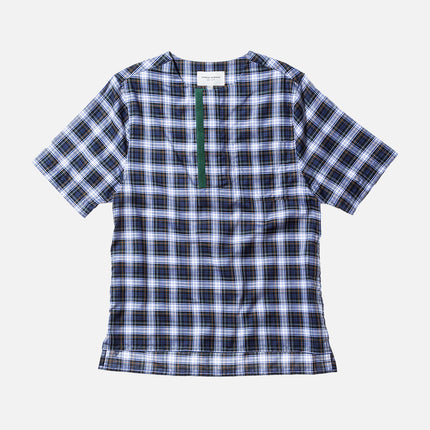 Public School Mer S/S Shirt - Navy Plaid