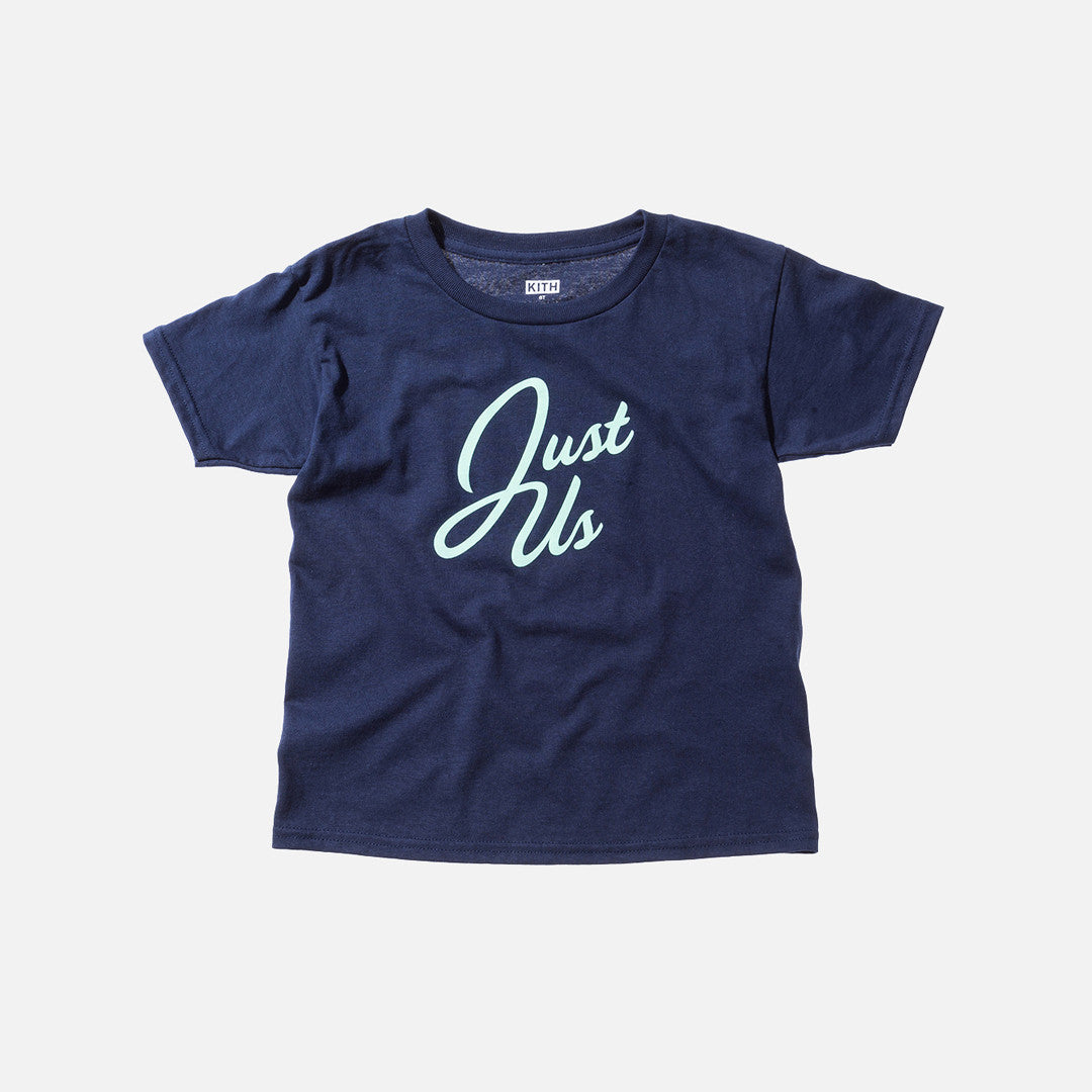 Kidset Toddlers Just Us Tee - Navy