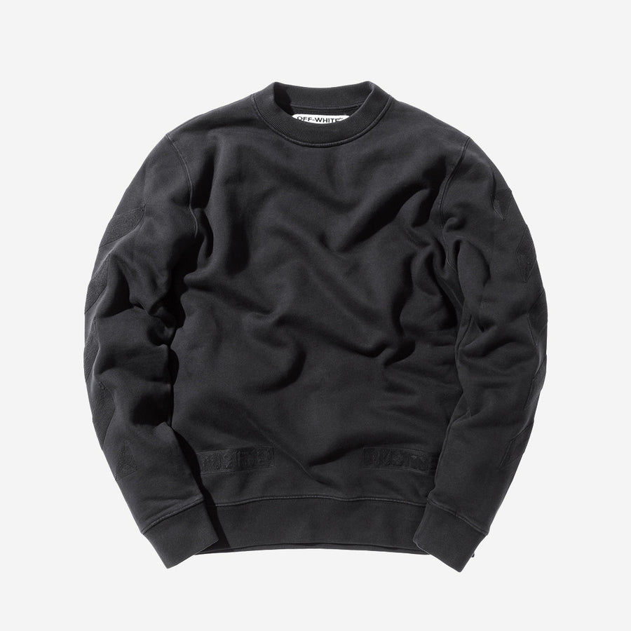 Off-White Tonal Cornelly Crewneck - Black / Black