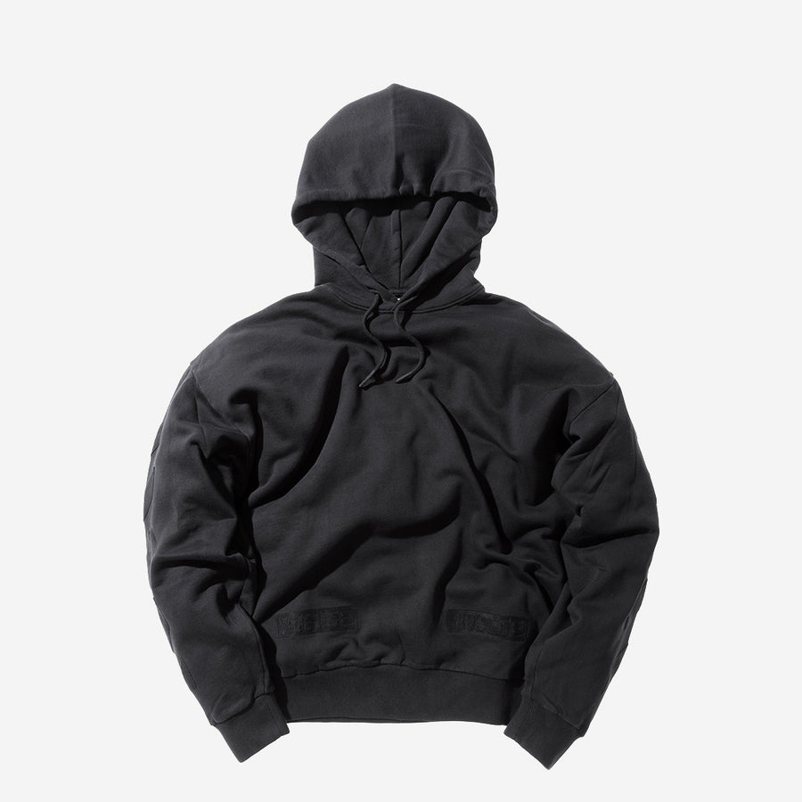 Off-White Tonal Cornelly Hoody - Black / Black