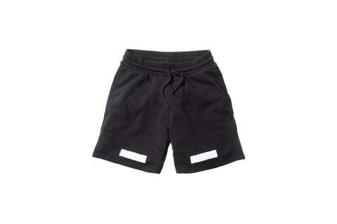 Off-White Brushed Diagonals Shorts - Black