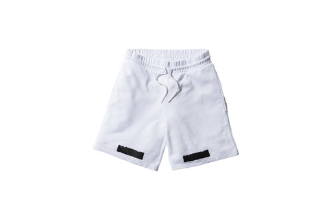 Off-White Brushed Diagonals Shorts - White / Black