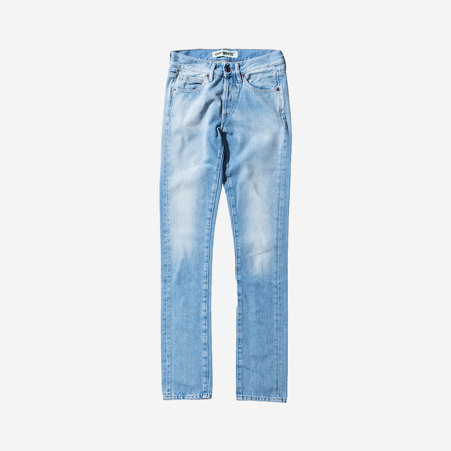 Off-White Brushed Denim - Bleach